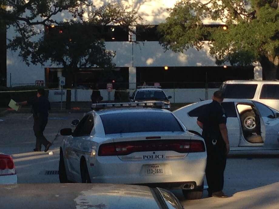 Scene of a shooting at Houston Community College. Photo: Mike Glenn, Houston Chronicle