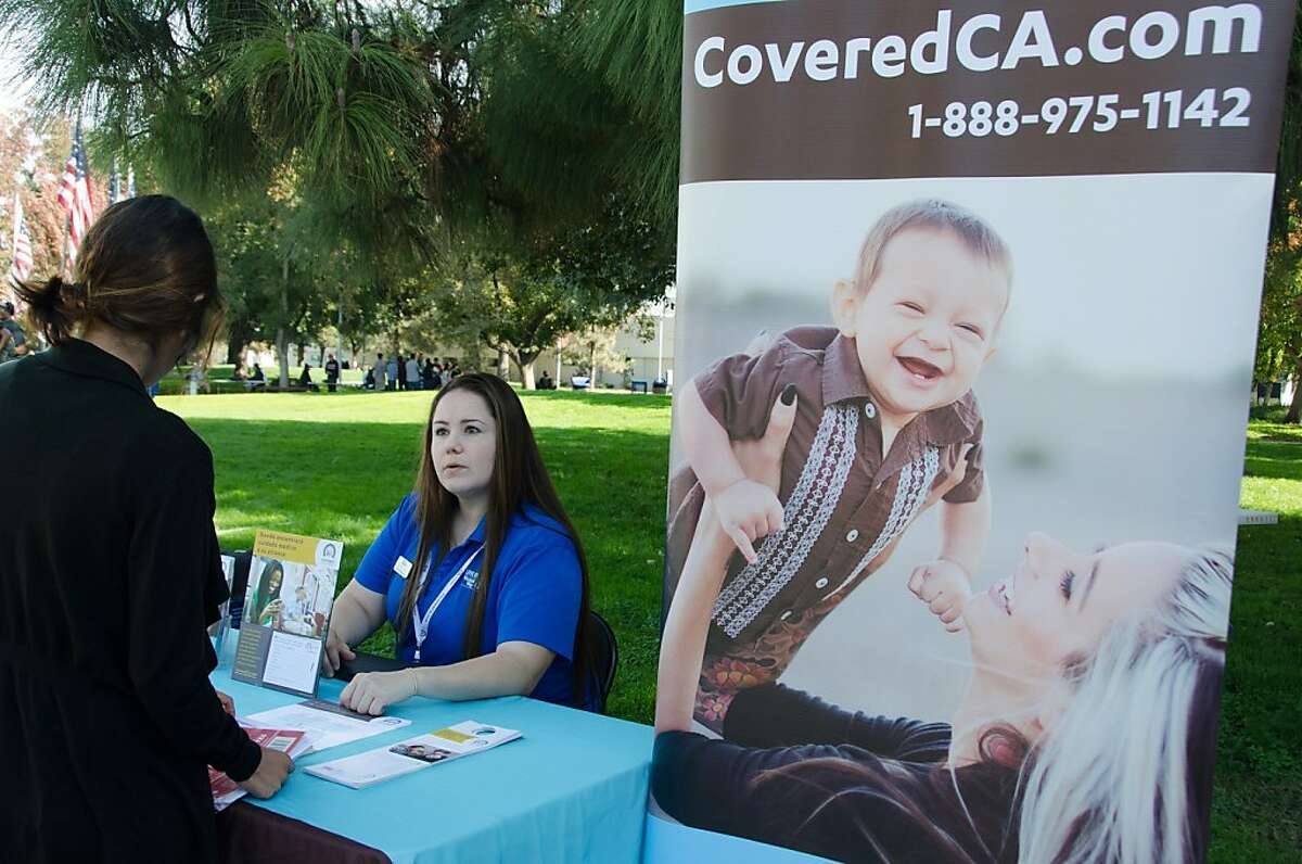 Covered California outreach counselor Elida Magaña, 29, set up shop at College of the Sequoias in Visalia in early November in hopes of educating people about their options under health reform.