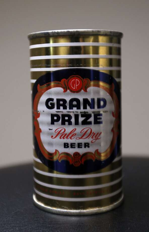 A can of Grand Prize beer which is part of Ken Knisely's beer can and beer memorabilia collection Wednesday, Nov. 27, 2013, in Houston.  ( James Nielsen / Houston Chronicle ) Photo: James Nielsen, Houston Chronicle