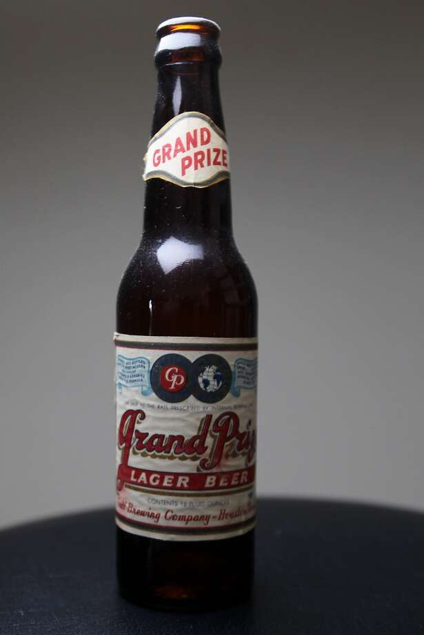 A bottle go Grand Prize beer which is part of Ken Knisely's beer can and beer memorabilia collection Wednesday, Nov. 27, 2013, in Houston.  ( James Nielsen / Houston Chronicle ) Photo: James Nielsen, Houston Chronicle