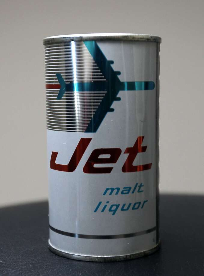 A can of Jet malt liquor which is part of Ken Knisely's beer can and beer memorabilia collection Wednesday, Nov. 27, 2013, in Houston.  ( James Nielsen / Houston Chronicle ) Photo: James Nielsen, Houston Chronicle