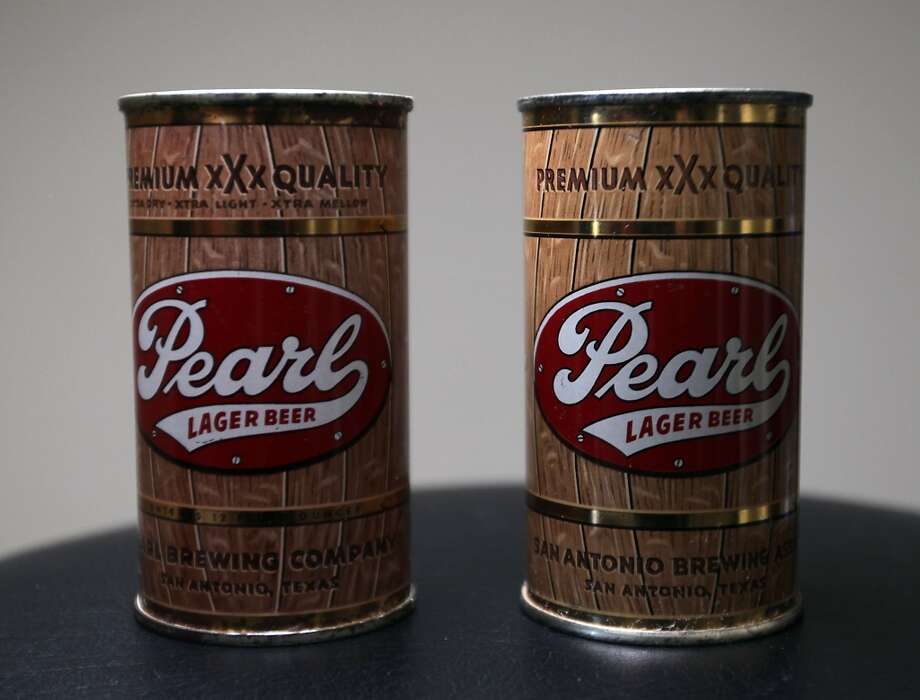 Cans of Pearl beer which is part of Ken Knisely's beer can and beer memorabilia collection Wednesday, Nov. 27, 2013, in Houston.  ( James Nielsen / Houston Chronicle ) Photo: James Nielsen, Houston Chronicle