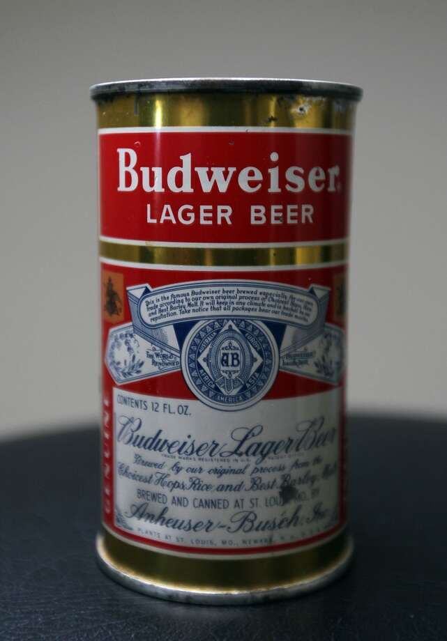 A can of Budweiser beer which is part of Ken Knisely's beer can and beer memorabilia collection Wednesday, Nov. 27, 2013, in Houston.  ( James Nielsen / Houston Chronicle ) Photo: James Nielsen, Houston Chronicle