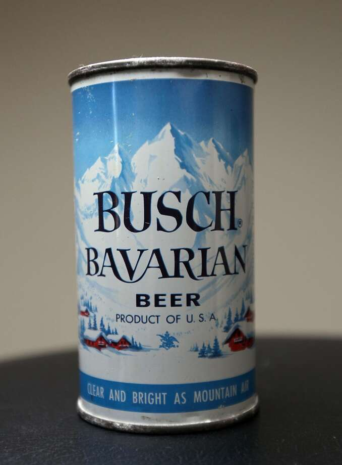 A can go Busch Bavarian beer which is part of Ken Knisely's beer can and beer memorabilia collection Wednesday, Nov. 27, 2013, in Houston.  ( James Nielsen / Houston Chronicle ) Photo: James Nielsen, Houston Chronicle