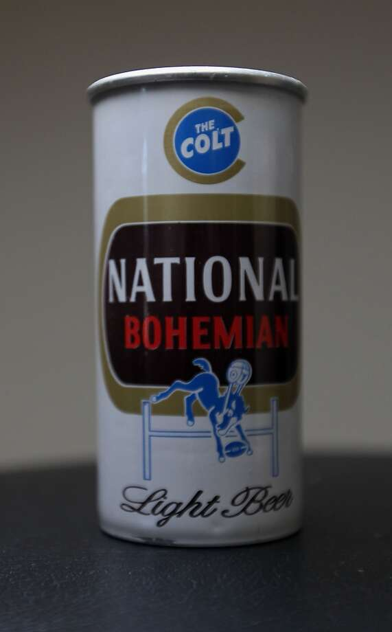 A can of National Bohemian beer which is part of Ken Knisely's beer can and beer memorabilia collection Wednesday, Nov. 27, 2013, in Houston.  ( James Nielsen / Houston Chronicle ) Photo: James Nielsen, Houston Chronicle