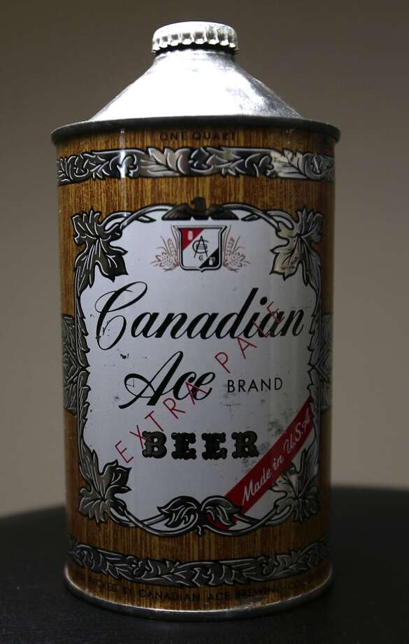 A 32 oz. can of Canadian Ace beer which is part of Ken Knisely's beer can and beer memorabilia collection Wednesday, Nov. 27, 2013, in Houston.  ( James Nielsen / Houston Chronicle ) Photo: James Nielsen, Houston Chronicle