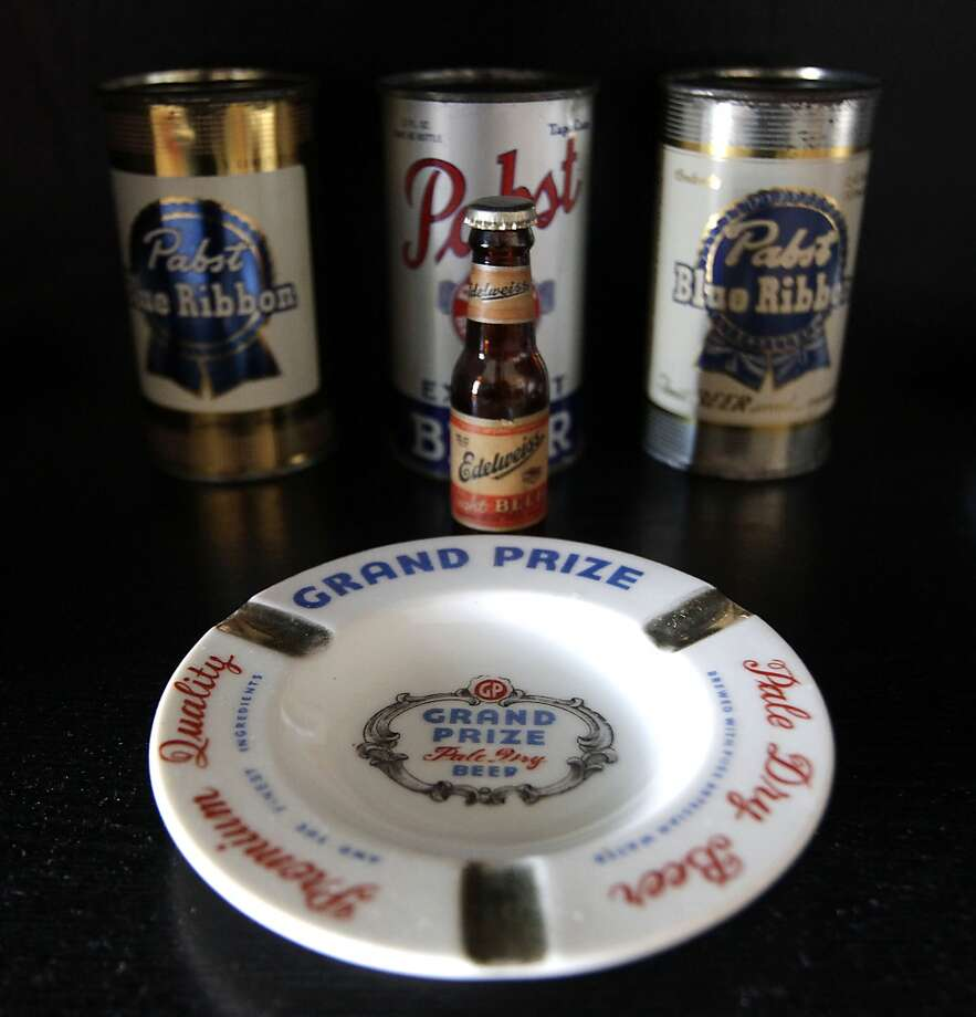 Some of the items in Ken Knisely's beer can and beer memorabilia collection Wednesday, Nov. 27, 2013, in Houston.  ( James Nielsen / Houston Chronicle ) Photo: James Nielsen, Houston Chronicle