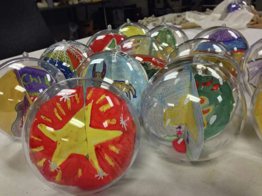Shown is a sampling of 24 Christmas ornaments created by students at the Carver Community Cultural Center to be displayed Friday at the National Christmas Tree Lighting Ceremony in Washington, D. C. Photo: Courtesy Photo
