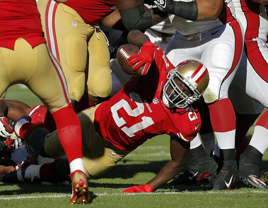 Frank Gore's rushing yardage has taken a dramatic dip in the past three games. Photo: Carlos Avila Gonzalez, The Chronicle