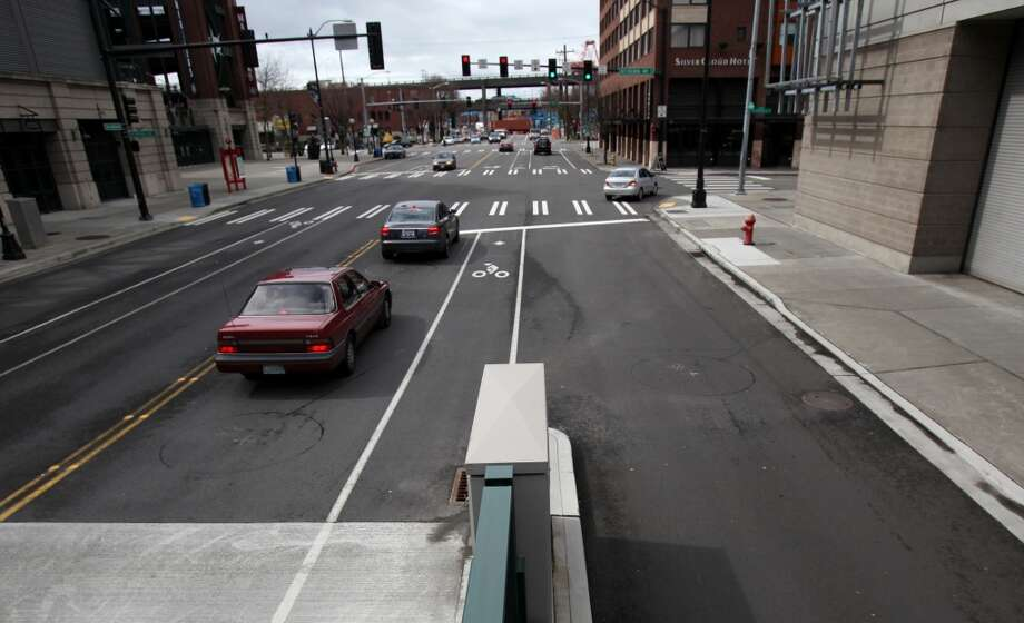 Q: Who has the right-of-way in a bike lane, a pedestrian or a bicyclist?A: Pedestrians can't use bike lanes like extra sidewalks, police spokeswoman Renee Witt said.People crossing a bike lane on foot should treat it like a regular street lane, police said, and rules for traffic signals apply.The sidewalk is a different issue regarding pedestrian right-of-way. Every person riding a bike on a sidewalk or public path shall yield the right of way to a pedestrian and must give an audible signal before overtaking and passing any pedestrian, according to city code. Photo: Seattlepi.com File