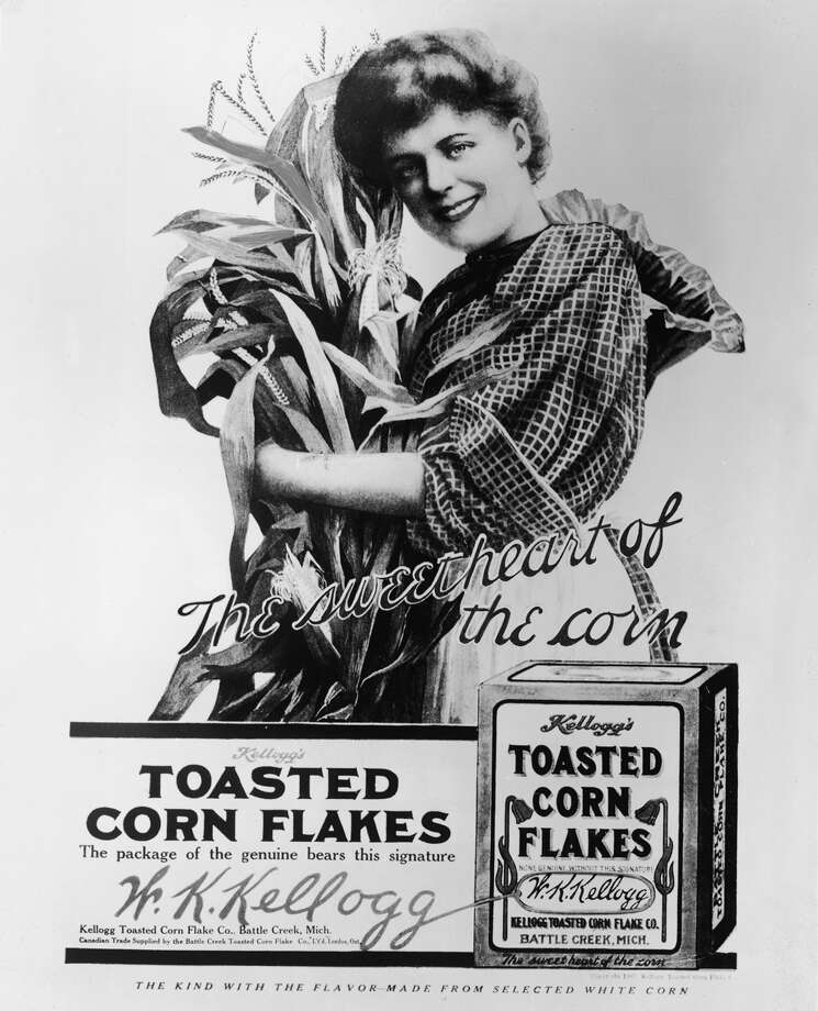 This first ad for corn flakes shows the beginnings of a beautiful relationship between Americans and the popular cereal. Photo: Frederic Lewis, Getty Images / 2004 Getty Images