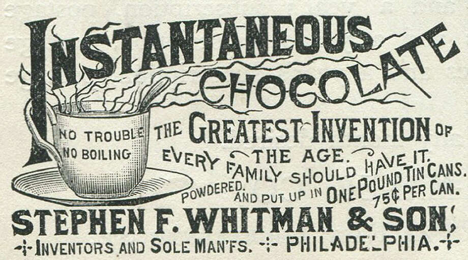 "This ad shows ""Whitman's instantaneous chocolate,"" aka hot chocolate, but today the company is known for ... Photo: Jay Paull, Getty Images / Archive Photos"