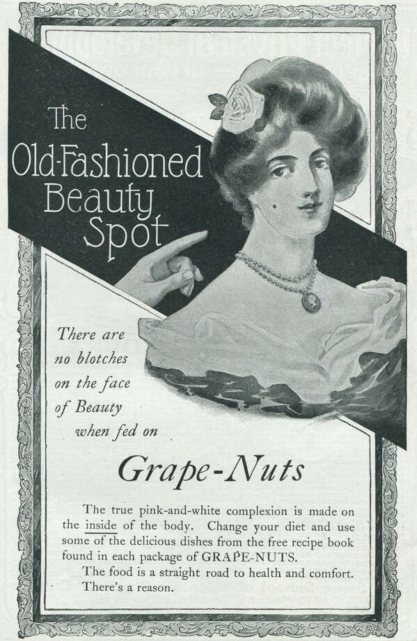 "Lucky for Grape-Nuts the FDA wasn't around yet when this ad was published, because the ""Grape-Nuts prevent beauty marks"" claim wouldn't fly today. Photo: Jay Paull, Getty Images / Archive Photos"