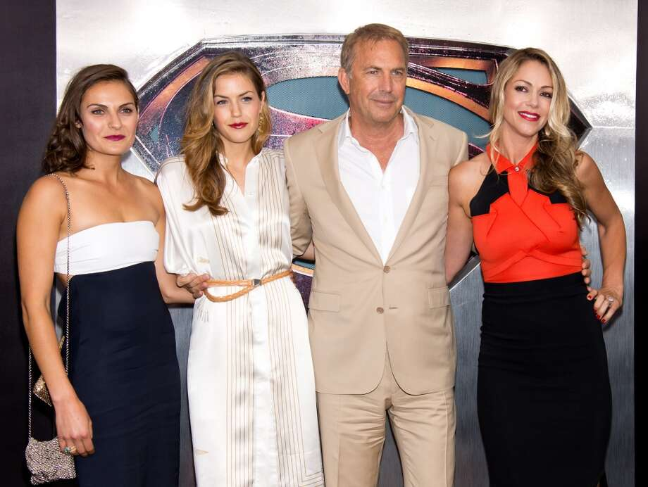 She's Lily Costner (second from the left) and her pops is Kevin Costner. Photo: Gilbert Carrasquillo, FilmMagic