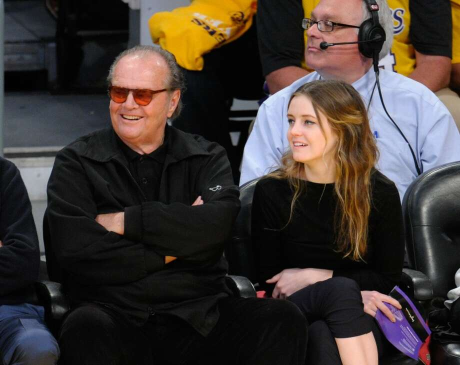 Jack Nicholson and his daughter Lorraine Nicholson catch a Lakers game together. Photo: Noel Vasquez, Getty Images