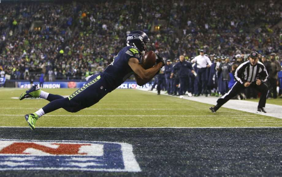 Seahawks player Jermaine Kearse almost makes a catch in the end zone against the Saints during an NFL game on Monday, Dec. 2, 2013. Photo: JOSHUA TRUJILLO, SEATTLEPI.COM