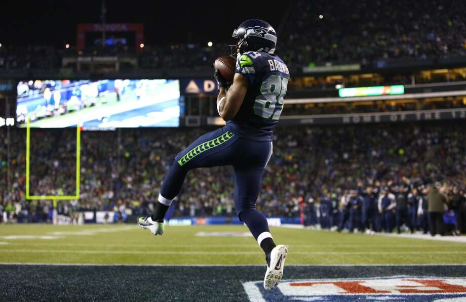 Seahawks player Doug Baldwin pulls down a catch for a touchdown against the Saints in the second quarter of an NFL game on Monday, Dec. 2, 2013, at CenturyLink Field in Seattle. Photo: JOSHUA TRUJILLO, SEATTLEPI.COM