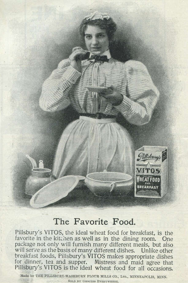 Before the Doughboy and biscuits, Pillsbury had this lady and Vitos, which apparently was a breakfast food. Photo: Jay Paull, Getty Images / Archive Photos
