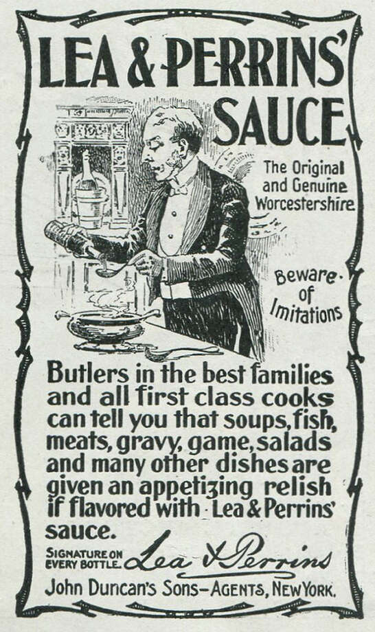 This butler may be serving the best worcestershire sauce around, but he looks a little disgruntled. Photo: Jay Paull, Getty Images / Archive Photos