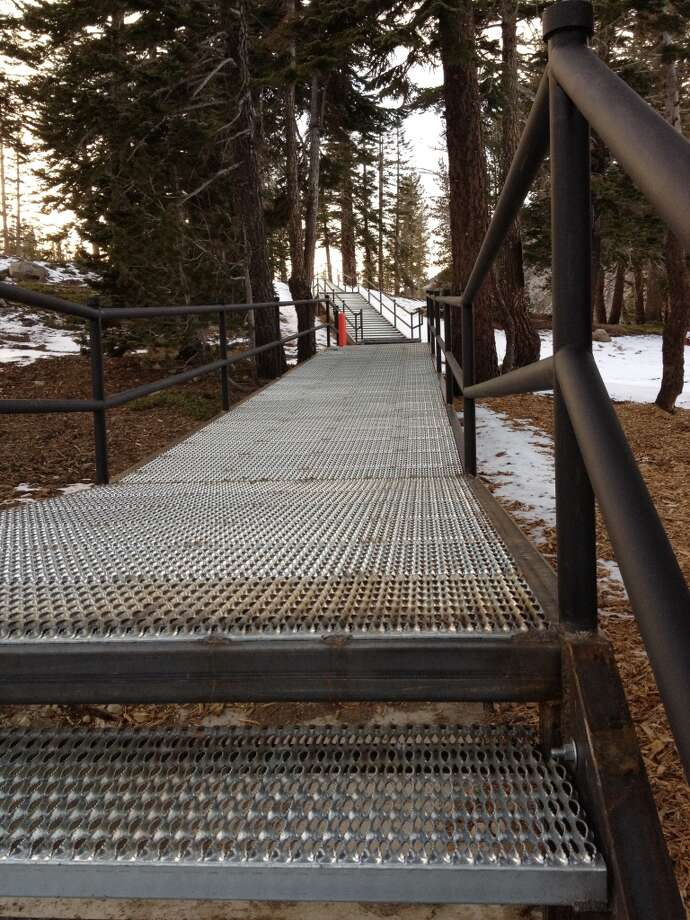 New stairs at Mt. Rose Photo: Mt. Rose