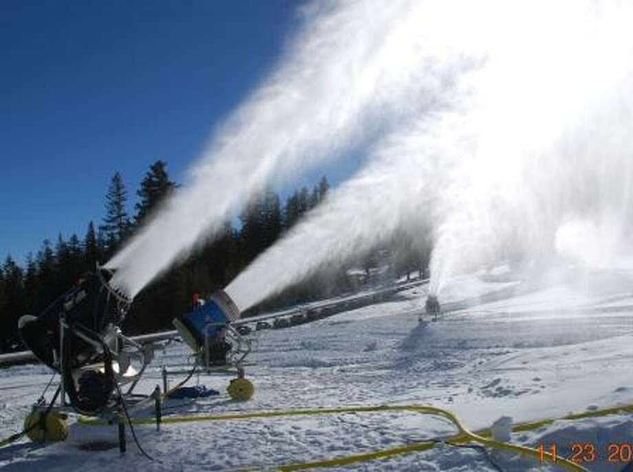 Snowguns firing at Mt. Rose Photo: Mt. Rose