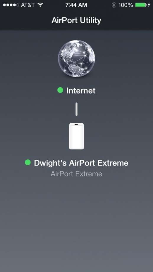 You can configure the AirPort Extreme using an iOS device as well. Windows? Well, you're out of luck. Photo: Chronicle