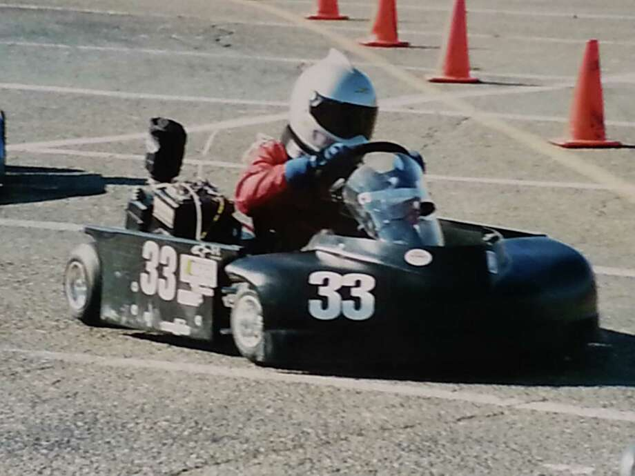 Parker Kligerman, aged 15 at the time, drives a go-kart at Norwalk Kart Association in 2005. Photo: Contributed Photo / Westport News Contributed