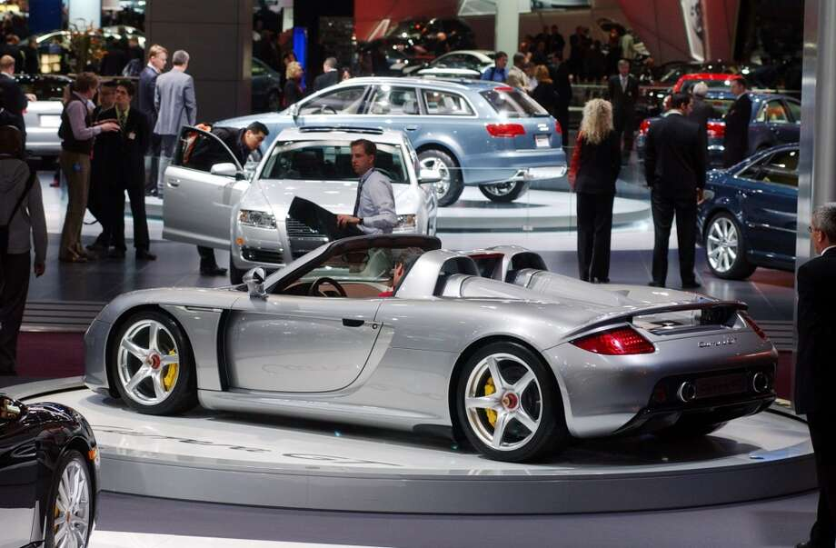 The Porsche Carrera GT is shown at the North American International Auto Show in Detroit, Tuesday, Jan. 11, 2005. Photo: CARLOS OSORIO, ASSOCIATED PRESS
