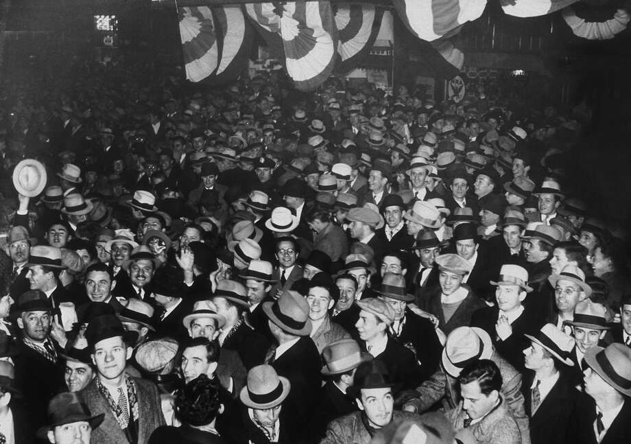 Crowds on Broadway, New York, celebrating the ratification of the 21st Amendment ending prohibition in America, December 5, 1933 Photo: New York Times Co., Getty Images / 2007 Getty Images