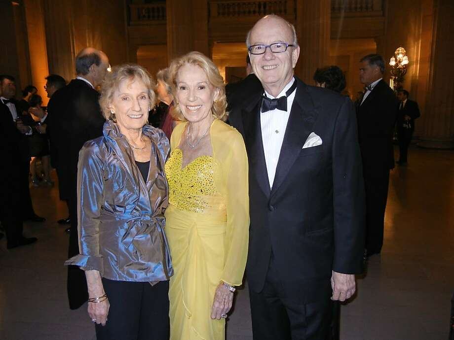 Nancy Bechtle (left), Charlotte Shultz and Honorary Consul to Monaco Tom Horn. Photo: Catherine Bigelow, Special To The Chronicle