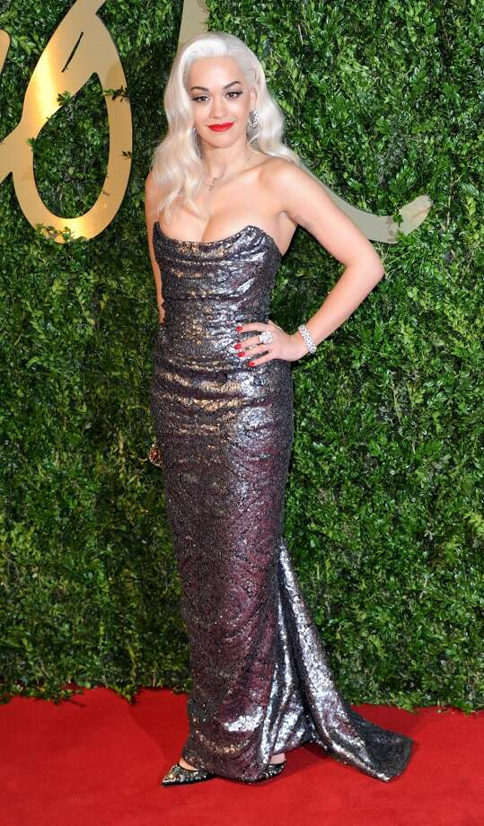 Rita Ora attends the British Fashion Awards 2013 at London Coliseum on December 2, 2013 in London, England.  (Photo by Stuart C. Wilson/Getty Images) Photo: Stuart C. Wilson, Getty Images