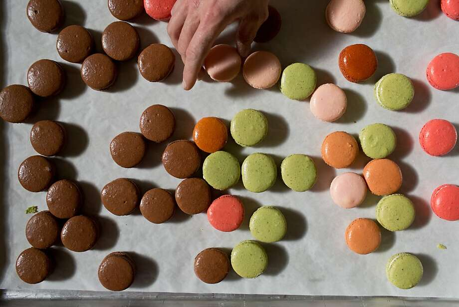 Colorful macarons are a specialty at Parker- Lusseau Pastries in Monterey. When the bakery began selling them 10 years ago, patrons didn't know what to make of the tasty French treats. Photo: Jason Henry, Special To The Chronicle