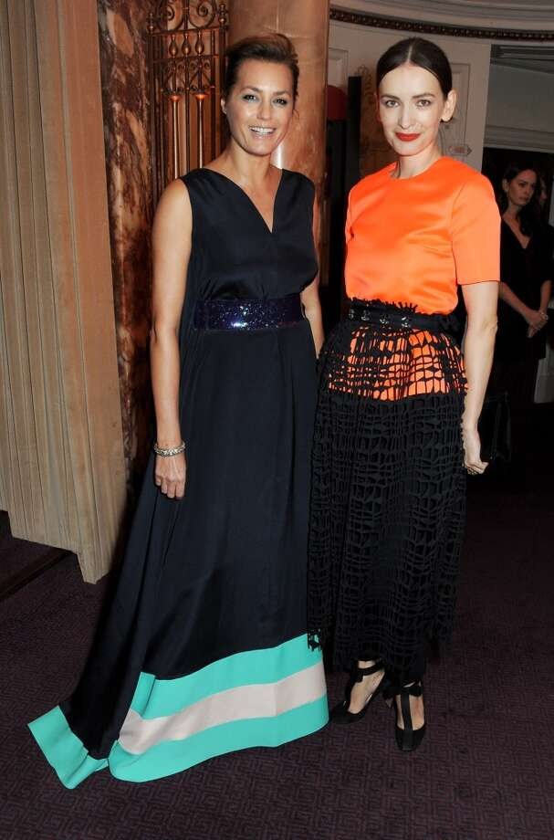 Yasmin Le Bon (L) and Roksanda Ilincic attend the British Fashion Awards 2013 drinks reception at the London Coliseum on December 2, 2013 in London, England.  (Photo by David M. Benett/Getty Images) Photo: David M. Benett, Getty Images