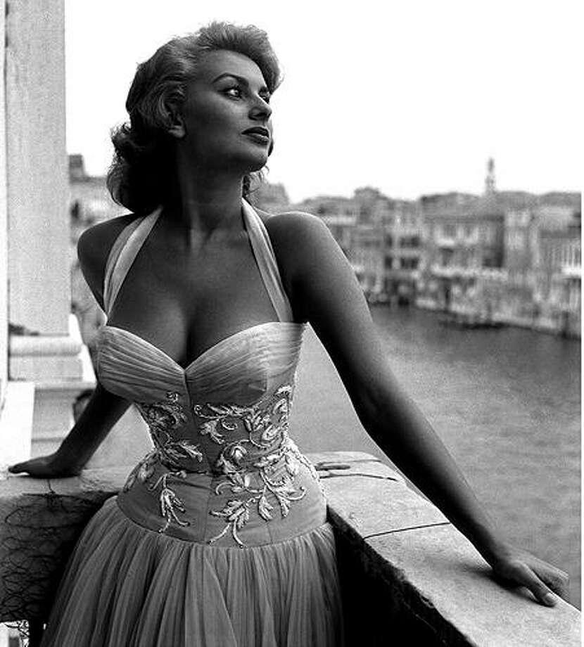 Two classics -- Sophia Loren and Venice.  Loren at the Venice Film Festival.