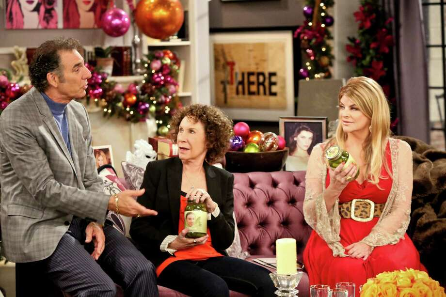 "Michael Richards, from left, Rhea Perlman and Kirstie Alley star in ""Kirstie."" Photo: --"