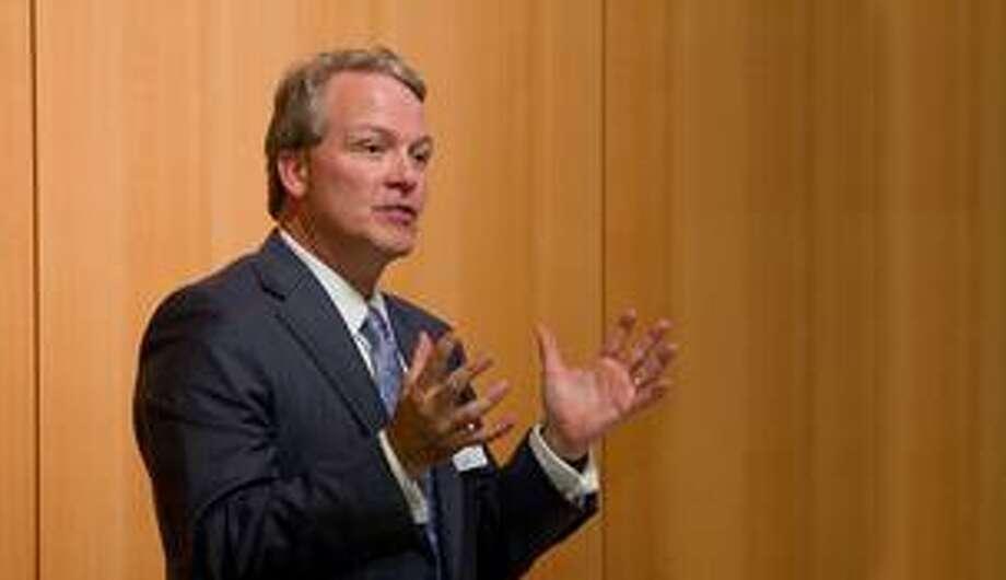 Houston Methodist Hospital president and CEO Marc. L. Bloom announces a partnership with two Houston area Christus hospitals. Photo: Provided By Christus St. John Hospital