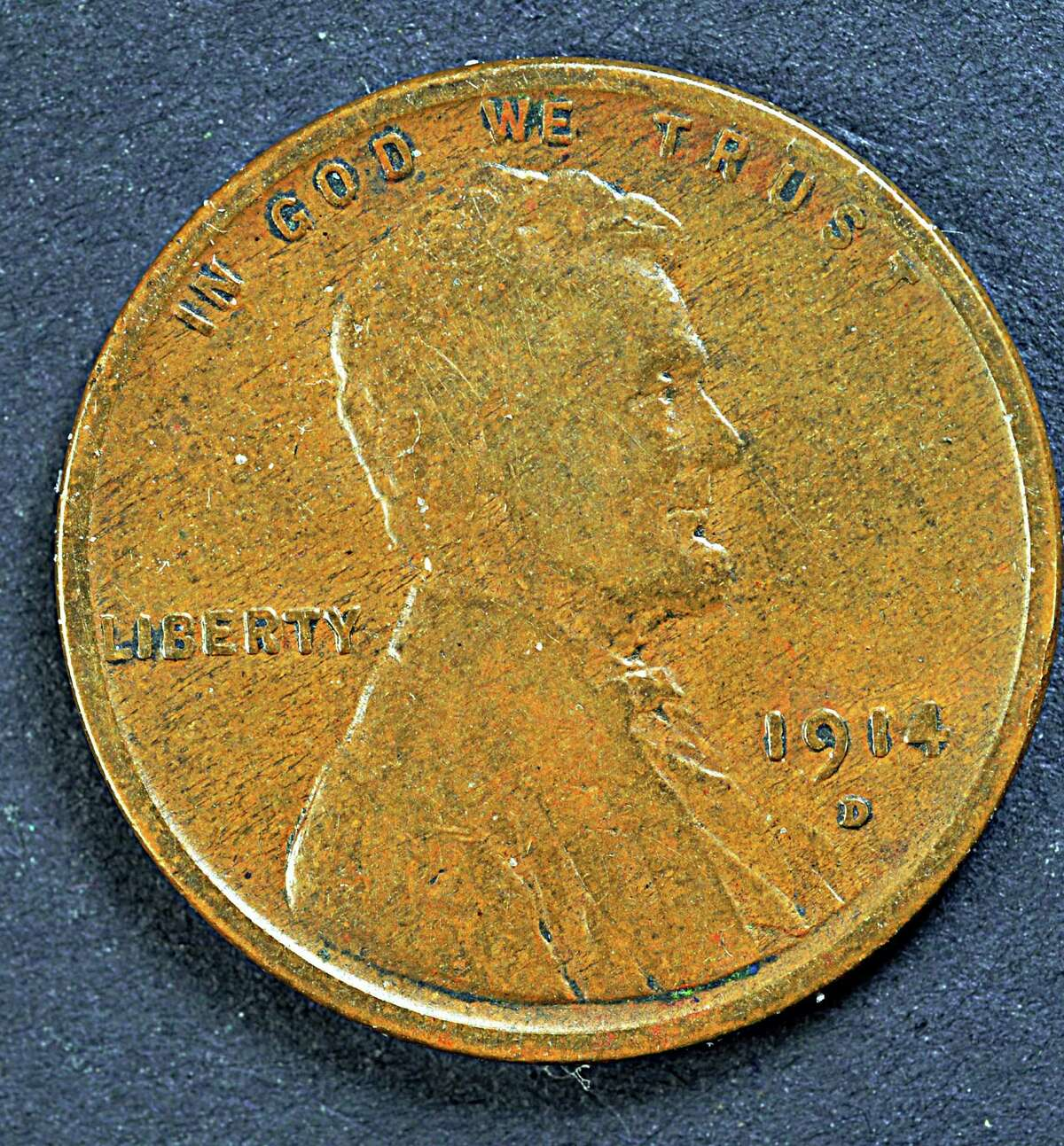 1914D U.S. penny