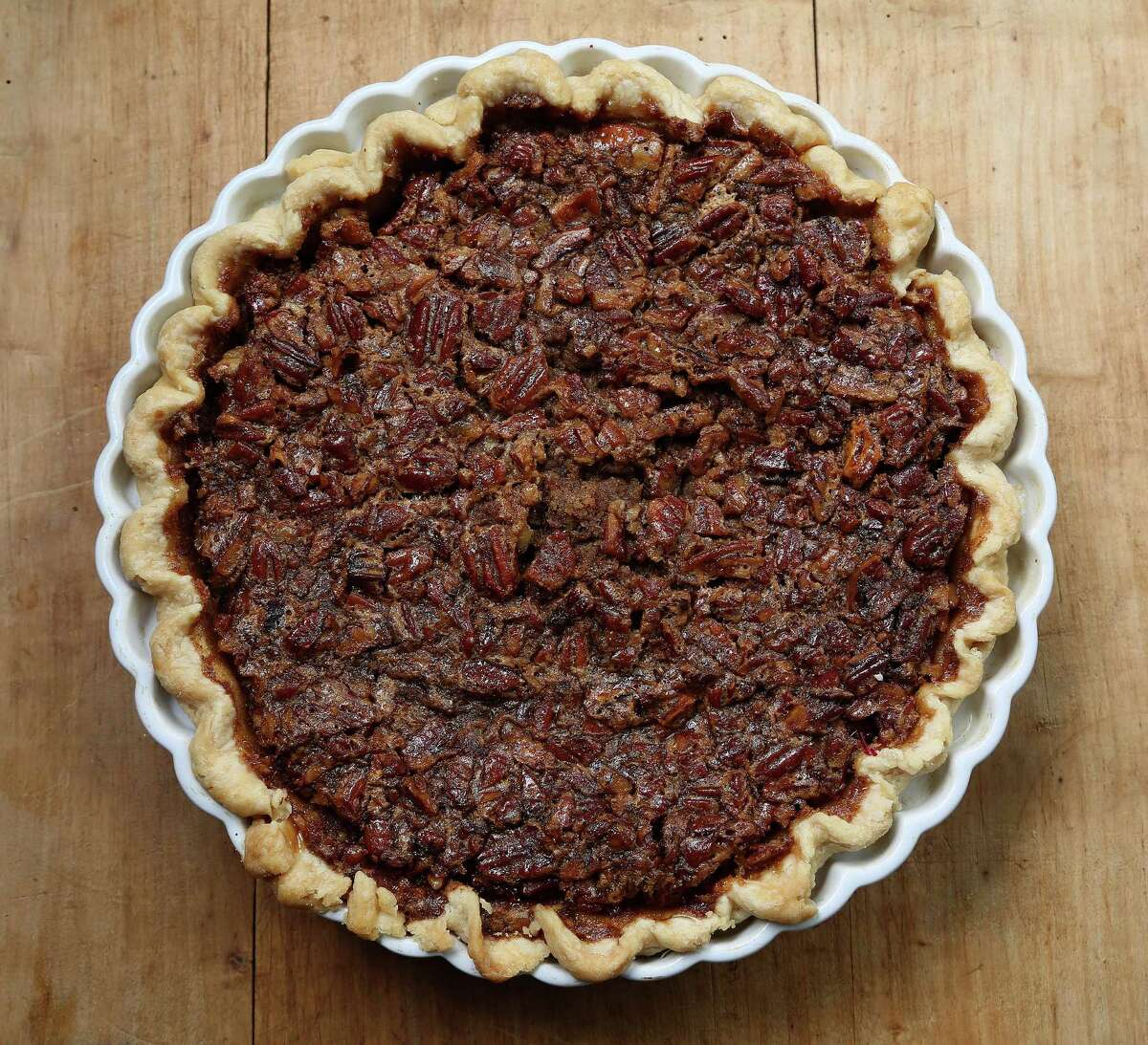 Sweet Potato Pecan Pie With Bourbon Sauce from Della Sellers.