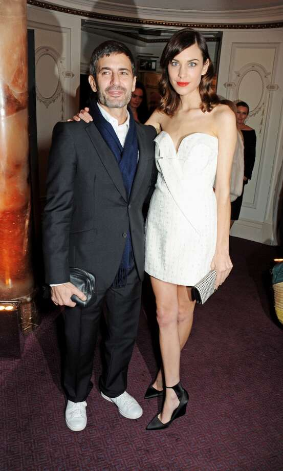 Marc Jacobs (L) and Alexa Chung attend the British Fashion Awards 2013 drinks reception at the London Coliseum on December 2, 2013 in London, England.  (Photo by David M. Benett/Getty Images) Photo: David M. Benett, Getty Images