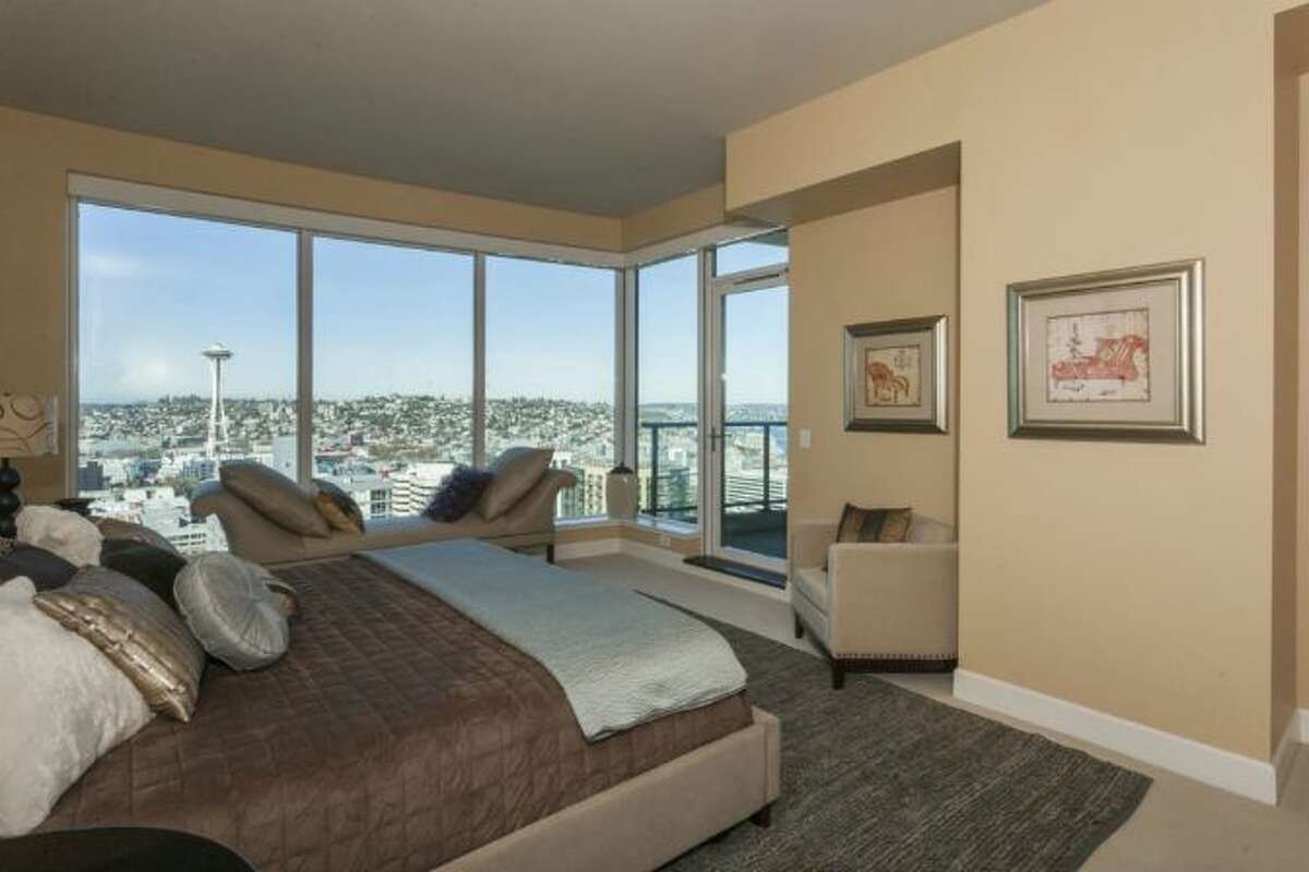 Bedroom of Tim Lincecum's Escala condo, 1920 4th Ave., unit 2806. It's listed for $2.495 million.