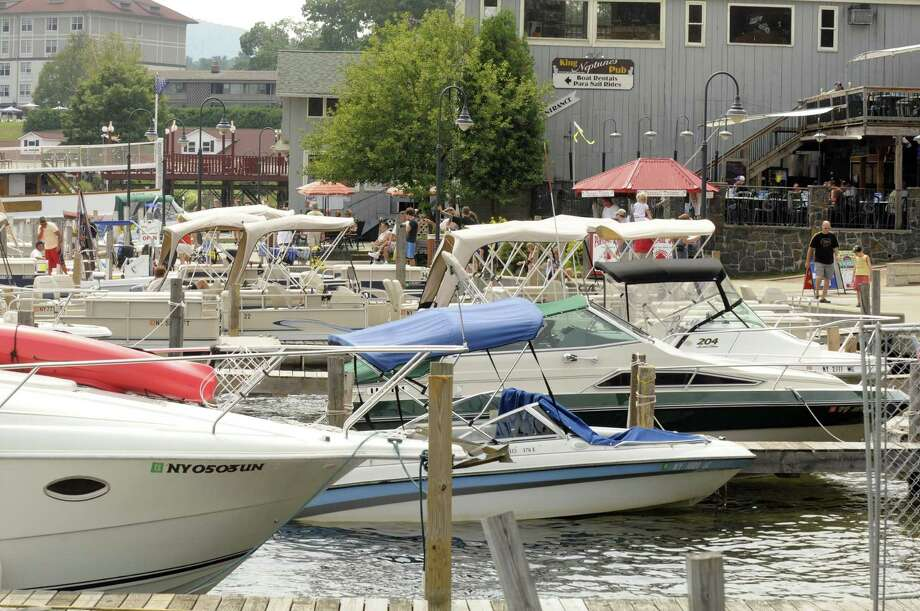 Full boat docks on the lake behind Canada Street in  Lake George, NY Friday Aug. 17, 2012. (Michael P. Farrell/Times Union) Photo: Michael P. Farrell