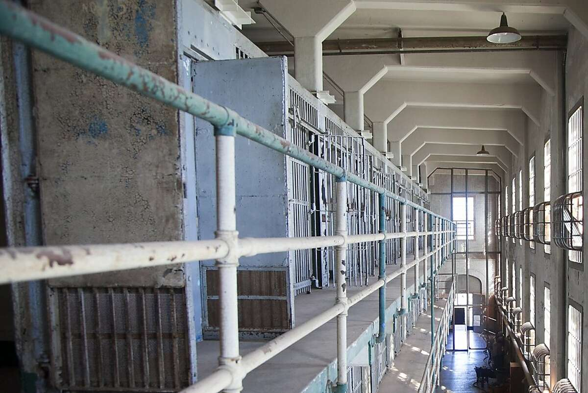 Second and third floors of A Block in the cellhouse at Alcatraz, site of the exhibition Ai Weiwei on Alcatraz (September 27, 2014 April 26, 2015); photo: Jan Strmann, courtesy FOR-SITE Foundation