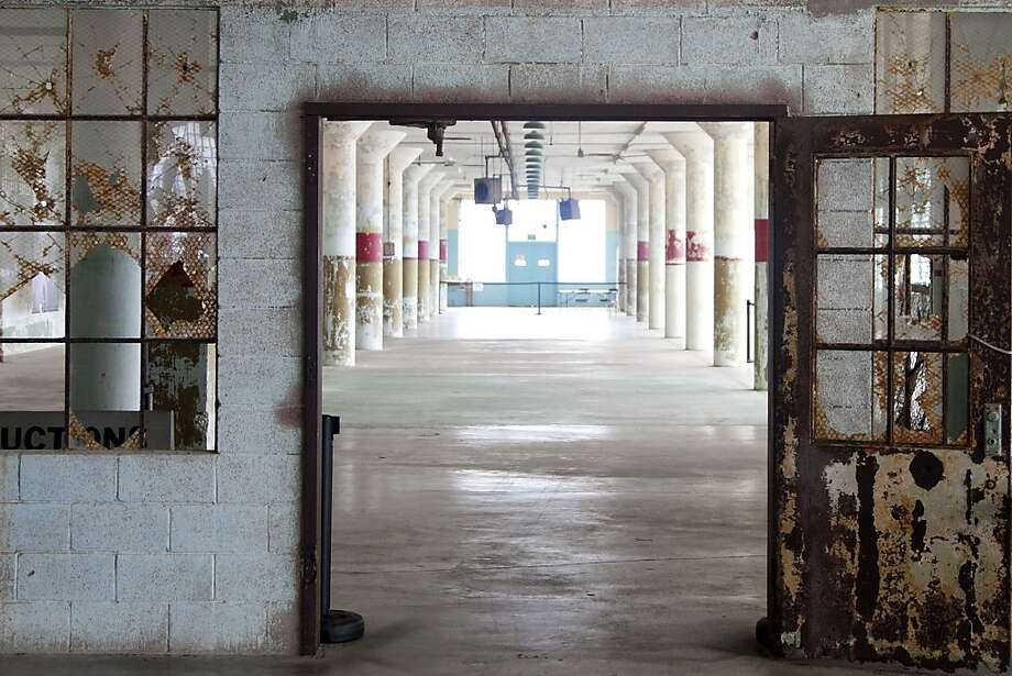 First floor of the New Industries Building at Alcatraz, site of the exhibition Ai Weiwei on Alcatraz (September 27, 2014 April 26, 2015); photo: Jan Strmann, courtesy FOR-SITE Foundation Photo: Jan Strmann, Courtesy FOR-SITE
