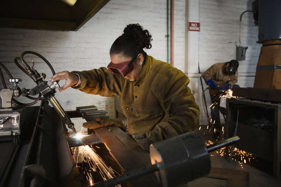 3. Machinists, welders and computer-controlled machine operators: 3.2 percent job growth, 11,000 employed last year.  Photo: Blend Images - Hill Street Studios, Getty Images / Brand X