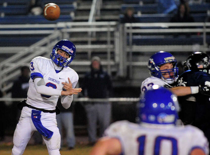 Class football playoff action between Ansonia and Coginchaug in Ansonia, Conn. on Tuesday December 3, 2013.