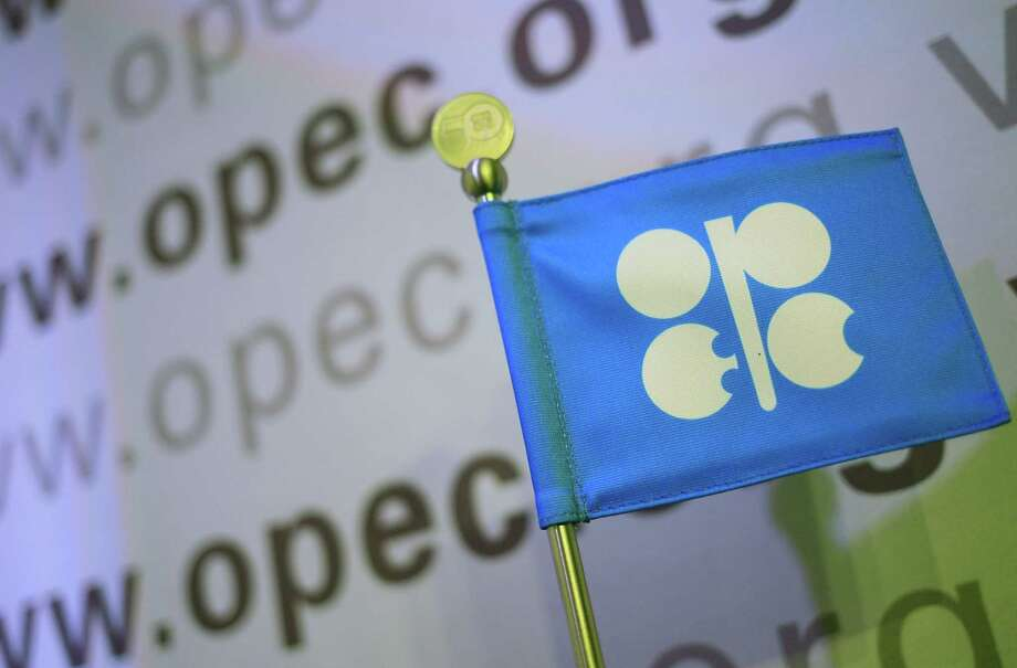 The logo of the OPEC (Organization of the Petroleum Exporting Countries). AFP PHOTO / ALEXANDER KLEINALEXANDER KLEIN/AFP/Getty Images Photo: ALEXANDER KLEIN, Staff / AFP
