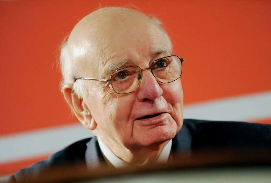Paul Volcker, director of financial analysis at the International Tax & Investment Center and former chairman of the U.S. Federal Reserve, speaks at the John C. Bogle Legacy Forum in New York, U.S., on Tuesday, Jan. 31, 2012. The forum, named after the founder of The Vanguard Group, looks at Bogle's investing strategies and what they mean in today's economic environment. Photographer: Peter Foley/Bloomberg *** Local Caption *** Paul Volcker Photo: Peter Foley, 976899 / © 2012 Bloomberg Finance LP