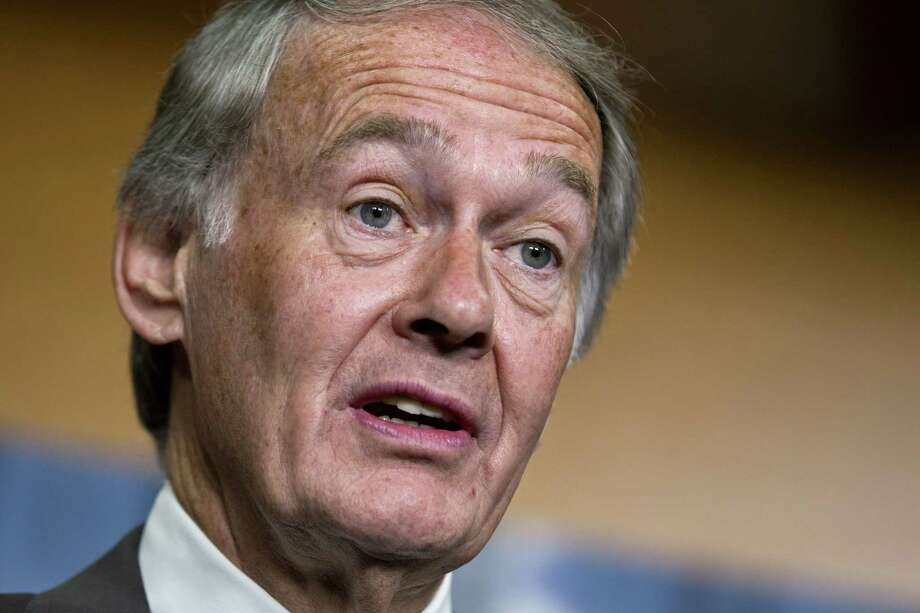"""U.S. Sen  Ed Markey, D-Mass.,  says a decision allowing exports of lightly refined condensate opens a """"slippery slope"""" toward crude oil exports, which he opposes.  (AP Photo/J. Scott Applewhite, File) Photo: J. Scott Applewhite, STF / AP"""