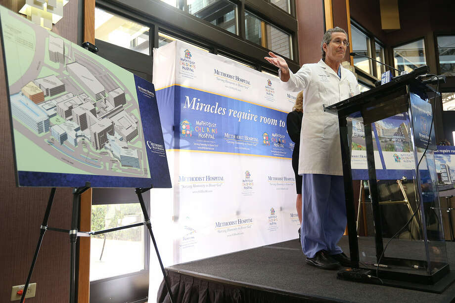 Dr. Richard Levine, Methodist Hospital's chief of staff, discusses the $200 million expansion planned for his hospital and at Methodist Children's Hospital. Photo: Jerry Lara / San Antonio Express-News