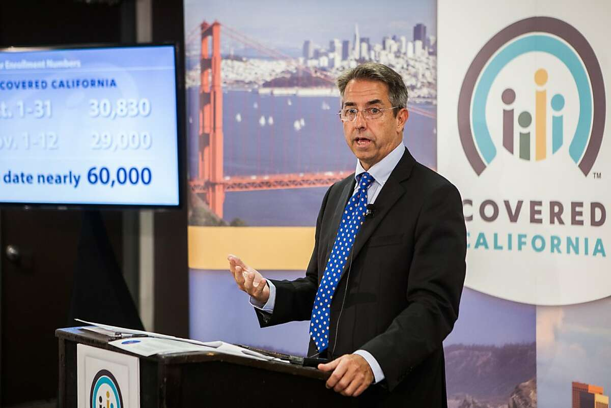 SACRAMENTO, CA - NOVEMBER 13: Covered California Executive Director Peter Lee speaks during a press conference regarding the number of new healthcare enrollees through CoveredCA.com, the health insurance exchange for the state of California, on November 13, 2013 in Sacramento, California. A total of 30,830 Californians enrolled through the exchange in the month of October, with a total of 59,830 people enrolled through November 12. (Photo by Max Whittaker/Getty Images)